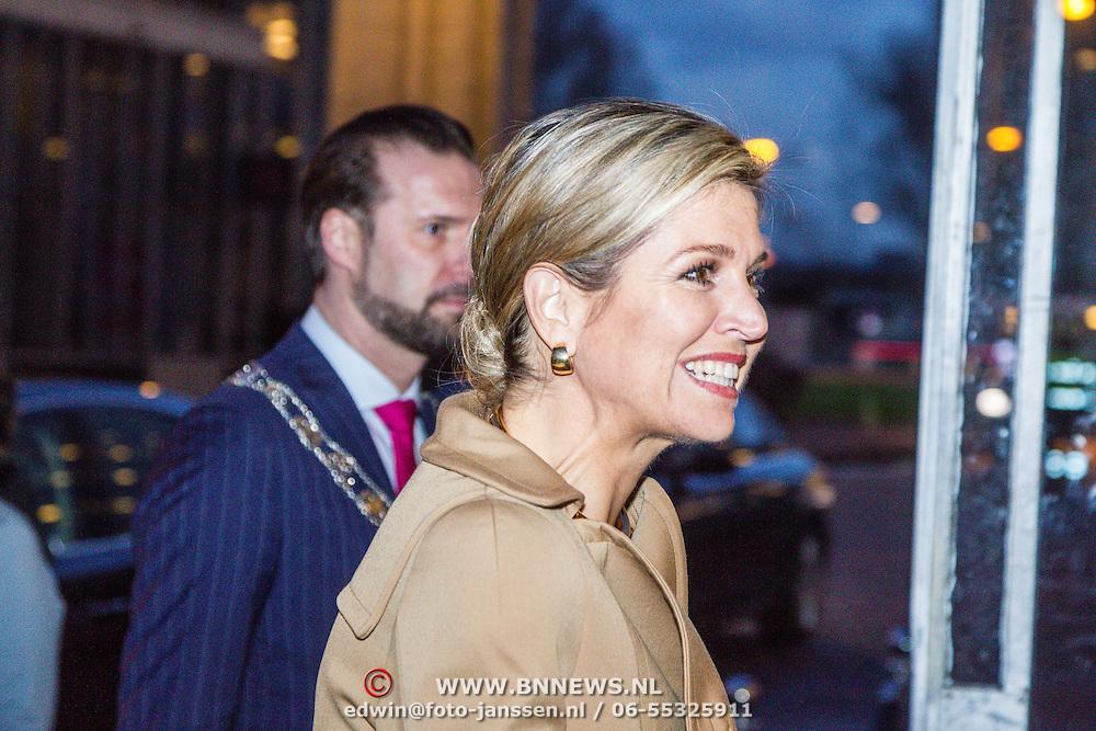NLD/Rotterdam/20160113 - NL Groeit 2015, aankomst Konining Maxima