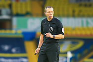 Referee Kevin Friend during the Premier League match between Leeds United and Brighton and Hove Albion at Elland Road, Leeds, England on 16 January 2021.