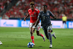 September 19, 2018 - Lisbon, Portugal - Bayern Munich's defender David Alaba from Austria (R ) vies with Benfica's Portuguese midfielder Gedson Fernandes during the UEFA Champions League Group E football match SL Benfica vs Bayern Munich at the Luz stadium in Lisbon, Portugal on September 19, 2018. (Credit Image: © Pedro Fiuza/NurPhoto/ZUMA Press)