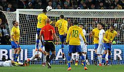 28.06.2010, Ellis Park Stadium, Johannesburg, RSA, FIFA WM 2010, Brazil (BRA) vs Chile.C (CHI), im Bild Il gol dell'1-0 di Juan (Brasile).Juan 's 1-0 leading goal scored for Brazil.. EXPA Pictures © 2010, PhotoCredit: EXPA/ InsideFoto/ Giorgio Perottino +++ for Austria and Slovenia only +++ / SPORTIDA PHOTO AGENCY