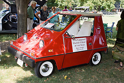 06 Aug 2011:  1976 Vanguard Electric Citicar owned by Dave Yoder of Danvers Illinois displayed at the 15th Annual McLean County Car Association Antique Car show at David Davis Mansion, Bloomington Illinois