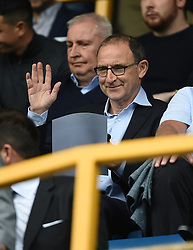 Martin O'Neill in the stands