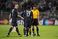 FOOTBALL - UEFA CHAMPIONS LEAGUE 2009/2010 - 1/2 FINAL - 2ND LEG - OLYMPIQUE LYONNAIS v BAYERN MUNCHEN - 27/04/2010 - PHOTO JEAN MARIE HERVIO / DPPI - SENT OFF CRIS (OL)