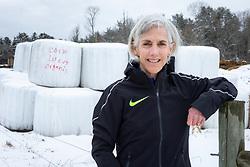 Joan Benoit Samuelson trains for Boston Marathon near her home in Freeport, Maine, USA