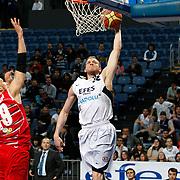 Efes Pilsen's Sinan GULER (R) during their Turkish Basketball Legague Play-Off qualifying first match Efes Pilsen between Pinar Karsiyaka at the Sinan Erdem Arena in Istanbul Turkey on Wednesday 11 May 2011. Photo by TURKPIX