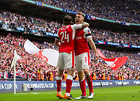 Arsenal's Aaron Ramsey celebrates scoring his sides second goal with team mate  Hector Bellerin     <br /> <br /> <br /> Photographer Craig Mercer/CameraSport<br /> <br /> The Emirates FA Cup Final - Arsenal v Chelsea - Saturday 27th May 2017 - Wembley Stadium - London<br />  <br /> World Copyright © 2017 CameraSport. All rights reserved. 43 Linden Ave. Countesthorpe. Leicester. England. LE8 5PG - Tel: +44 (0) 116 277 4147 - admin@camerasport.com - www.camerasport.com