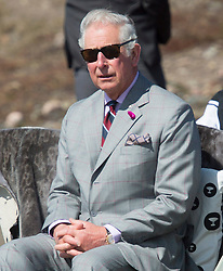 Prince Charles listens to speakers during an event at the Sylvia Grinnell park in Iqaluit, Nunavut, Canada, Thursday, June 29, 2017. Photo by Adrian Wyld/ABACAPRESS.COM