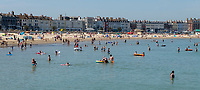 Weymouth beach thousands of sunseakes continuing to ignoring  social distancing rules as temperatures reach 28C photo by brian jordan