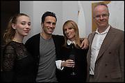 ANNA KOORIS; ANDREAS SIEGFRIED; JANE SUITOR; HANS ULRICH OBRIST, James Franco exhibition 'Fat Squirrel' at Siegfried Contemporary, Basset Rd, London W10. 23 November 2014.