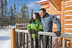 Enjoying a lodge retreat at Uncommon Journeys in the Ibex Valley near Whitehorse, Yukon, Canada