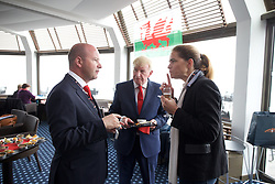 DINARD, FRANCE - Wednesday, June 8, 2016: FAW Chief Executive Jonathan Ford and FAW Trust Chairman Peter Lee speak to delegates during a reception at the Wales team hotel Novotel Thalassa Dinard to celebrate the signing of a partnership between the FAW Trust and the Ligue De Bretagne De Football during the UEFA Euro 2016 Championship. (Pic by Paul Greenwood/Propaganda)