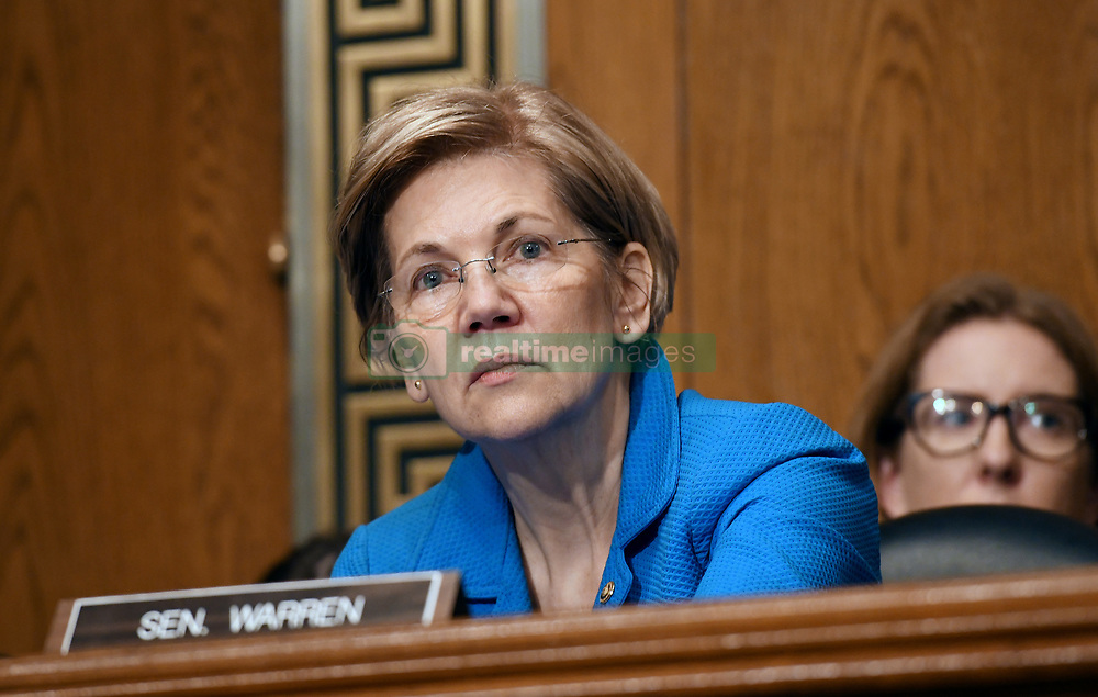 U.S. Senator Elizabeth Warren of Massachusetts attends an hearing on Capitol Hill to examine the Federal response to the opioid crisis Oct. 5, 2017 in Washington D,C.. The ongoing opioid epidemic has rapidly emerged as one of the most urgent public health challenges facing the nation today. Photo by Olivier Douliery/ Abaca Press
