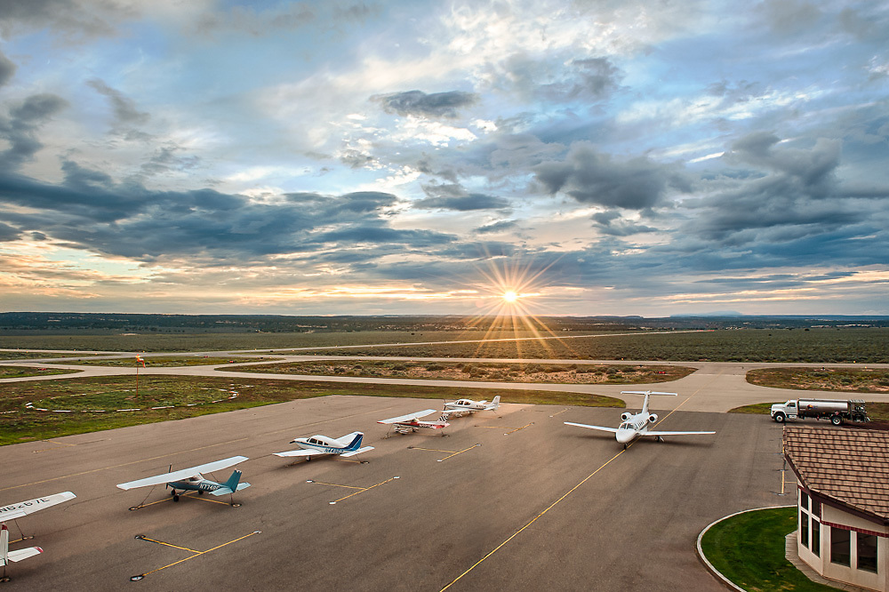 Photo of a municipal airport in a small town on the Arizona strip.
