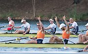 "Rio de Janeiro. BRAZIL.  GBR M4-, Bow Alex GREGORY, Mohamed SBIHI, George NASH and Constantine LOULOUDIS. 2016 Olympic Rowing Regatta. Lagoa Stadium,<br /> Copacabana,  ""Olympic Summer Games""<br /> Rodrigo de Freitas Lagoon, Lagoa. Local Time 09:46:29  Thursday  11/08/2016 <br /> [Mandatory Credit; Peter SPURRIER/Intersport Images]"