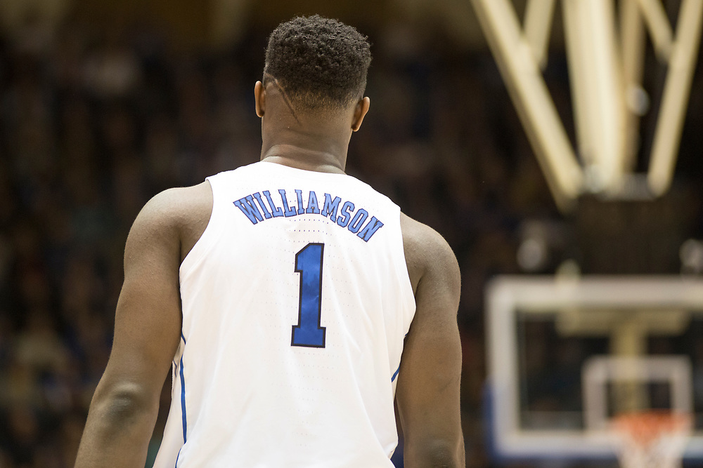 Zion Williamson during the Duke Blue Devil's home game against the Princeton Tigers on December 18, 2018.