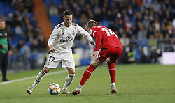 January 25, 2019 - Madrid, Madrid, Spain - Lucas Vazquez (Real Madrid) seen in action during the Copa del Rey Round of quarter-final first leg match between Real Madrid CF and Girona FC at the Santiago Bernabeu Stadium in Madrid, Spain. (Credit Image: © Manu Reino/SOPA Images via ZUMA Wire)