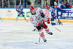 Ziga Grahut (HK Acroni Jesenice, #11) during warm-up prior to ice-hockey match between KHL Medvescak Zagreb and HK Acroni Jesenice in 39th Round of EBEL league, on Januar 8, 2012 at Arena Zagreb, Zagreb, Croatia. (Photo By Matic Klansek Velej / Sportida)