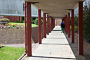 A prisoner walkiing though the grounds of the prison. HMP The Mount, Bovingdon, Hertfordshire