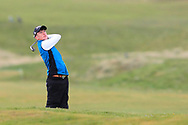 Dylan Keating (Seapoint) the 17th during Round 3 of the Ulster Boys Championship at Donegal Golf Club, Murvagh, Donegal, Co Donegal on Friday 26th April 2019.<br /> Picture:  Thos Caffrey / www.golffile.ie