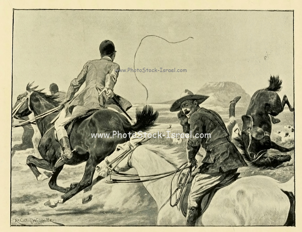 Fox Hunting 1910 From the Book '  Medley of sport ' by Durham, J. M. M. B Published by Gibbings, London in 1910