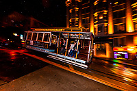 California Street cable car, San Francisco, California USA