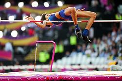 London, August 12 2017 . Vashti Cunningham, USA, in the women's high jump final on day nine of the IAAF London 2017 world Championships at the London Stadium. © Paul Davey.