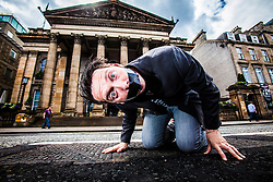 The Boy With Tape On His Face, at The Dome on George Street, interviewed about his forthcoming Fringe shows.<br /> ©Michael Schofield.