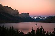 Wild Goose Island, Glacier National Park.