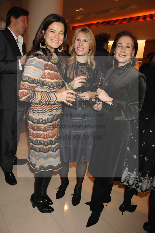 Left to right, KATE SLESINGER, SAM CORSELLIS and DEBORAH BENNETT at a reception to launch the 2007 Louis Vuitton Christmas windows in collaboration with Central Saint Martins College of Art & Design held at 17-18 New Bond Street, London W1 on 7th November 2007.<br /><br />NON EXCLUSIVE - WORLD RIGHTS