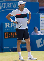 Tennis - 2017 Aegon Championships [Queen's Club Championship] - Day Three, Wednesday<br /> <br /> Men's Singles, Round of 16 - Grigor Dimitrov (BUL) vs Julien Benneteau (FRA)<br /> <br /> Julien Benneteau (FRA) looks on in stunned disbelief at Queens Club<br /> <br /> COLORSPORT/DANIEL BEARHAM