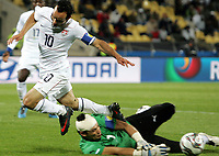 Fotball<br /> 21.06.2009<br /> Confederations Cup<br /> Egypt v USA<br /> Foto: Gepa/Digitalsport<br /> NORWAY ONLY<br /> <br /> Bild zeigt Landon Donovan (USA) und Essam El Hadary (EGY)