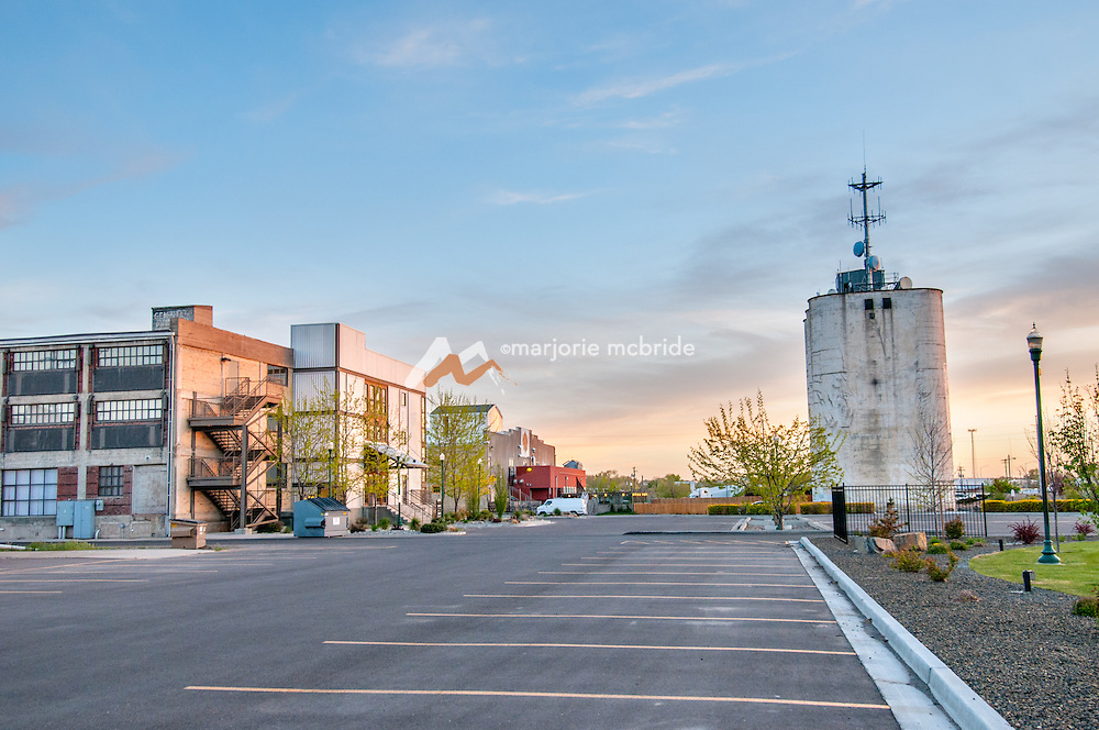 Historic down town during sunset, Twin Falls, Idaho.