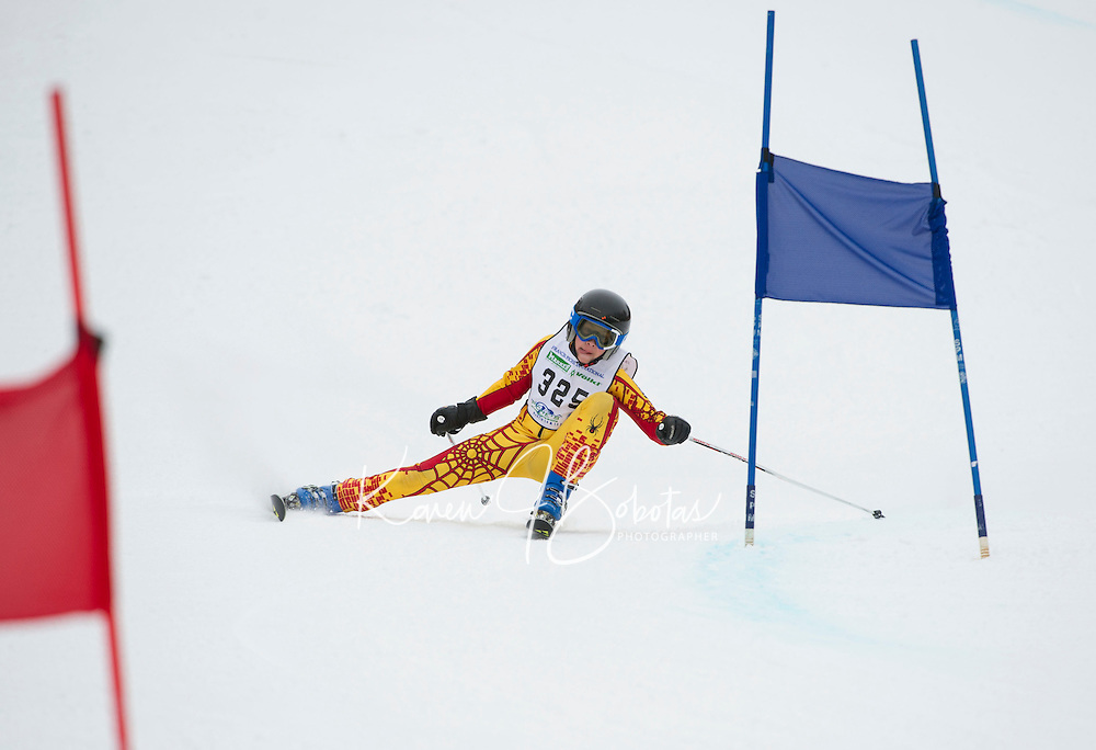 Francis Piche Giant Giant Slalom Men U14 on  Cannonball. ©2015 Karen Bobotas Photographer