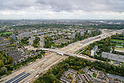 Nederland, Zuid-Holland, Schiedam, 23-10-2013; aanleg van de verlengde A4 (A4 Delft-Schiedam). Bouw landtunnel, kruising Brederoweg.<br /> Construction land tunnel of the extended A4 (A4 Delft-Schiedam) between Vlaardingen and Schiedam.<br /> luchtfoto (toeslag op standaard tarieven);<br /> aerial photo (additional fee required);<br /> copyright foto/photo Siebe Swart.