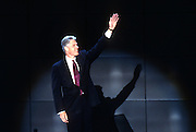U.S President Bill Clinton waves to supporters as he accepts the nomination for the democrat party at the 1996 Democratic National Convention August 29, 1996 in Chicago, IL.