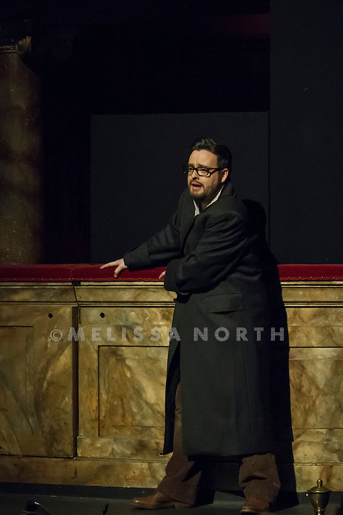 Elizabeth Zharoff makes her debut in the first revival of Peter Konwitchny's Olivier Award-nominated La traviata at The English National Opera (ENO), the London Coliseum, London, UK on 6th February 2015. Opens on 9th February 2015.