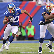 Rashad Jennings, New York Giants, in action during the New York Giants V San Francisco 49ers, NFL American Football match at MetLife Stadium, East Rutherford, NJ, USA. 16th November 2014. Photo Tim Clayton
