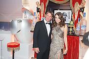 SHANE WARNE; ELIZABETH HURLEY, Grey Goose Winter Ball to benefit the Elton John Aids Foundation. Battersea Power Station. London. 10 November 2012.