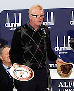 The Dunhill Championship 2011..7-10-11.        ..Chris Evans with his winners Trophy in the Dunhill Championship Pro-Am. He has since received a lifetime ban from the Championship for Golf banditing/ lying about his handicap. He was partnered by Nick Dougherty and his combined score was a record -40 par..  .Picture Mark Davison/ ProLens PhotoAgency/ PLPA.Sunday 9th October 2011.