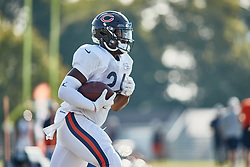 July 28, 2018 - Bourbonnais, IL, U.S. - BOURBONNAIS, IL - JULY 28: Chicago Bears running back Jordan Howard (24) participates in drills during the Chicago Bears training camp on July 28, 2018 at Olivet Nazarene University in Bourbonnais, Illinois. (Photo by Robin Alam/Icon Sportswire) (Credit Image: © Robin Alam/Icon SMI via ZUMA Press)