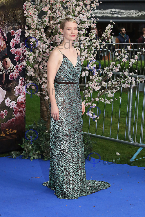Mia Wasikowska, Alice Through The Looking Glass - European film premiere, Leicester Square gardens, London UK, 10 May 2016, Photo by Richard Goldschmidt
