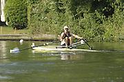 Henley, Great Britain.BEL M1X Tim MAEYANS  during a heat of the Diamond Challenge  Sculls.  Thursday 02/07/2009 at Henley Royal Regatta [Mandatory Credit. Peter Spurrier/Intersport Images] . HRR.