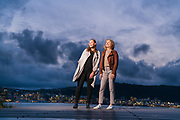 Evelyn Smith (left) and Hannah Ploeger (right), ANZ Nature Tours, photographed in Wellington at Roseneath Memorial Park, 3 June 2020. Photo credit: Stephen A'Court.