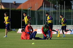 18.05.2012, Brezice, SLO, UEFA EURO 2012, Trainingscamp, Kroatien, 2. Trainingstag, im Bild Slaven Bilic, Nikola Jurcevic, Aljosa Asanovic // during 2nd practice day of Croatian National Footballteam for preparation UEFA EURO 2012 at Brezice, Slovenia on 2012/05/18. EXPA Pictures © 2012, PhotoCredit: EXPA/ Pixsell/ Daniel Kasap....***** ATTENTION - OUT OF CRO, SRB, MAZ, BIH and POL *****