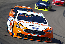 March 11, 2018 - Avondale, Arizona, United States of America - March 11, 2018 - Avondale, Arizona, USA: Ryan Blaney (12) brings his car through the turns during the Ticket Guardian 500(k) at ISM Raceway in Avondale, Arizona. (Credit Image: © Chris Owens Asp Inc/ASP via ZUMA Wire)