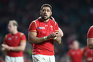 Taulupe Faletau of Wales looking on. Rugby World Cup 2015 quarter final match, South Africa v Wales at Twickenham Stadium in London, England  on Saturday 17th October 2015.<br /> pic by  John Patrick Fletcher, Andrew Orchard sports photography.