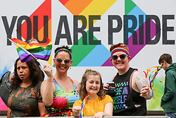 © Licensed to London News Pictures. 06/07/2019. London, UK.  An estimated over 1 million people lined along the route in support of the LGBT (Lesbian, Gay, Bisexual and Transgender/Transsexual) community as over 30,000 participants take part in the annual Pride Parade in central London. Photo credit: Dinendra Haria/LNP