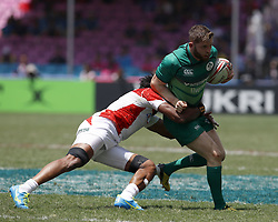 April 8, 2018 - Hong Kong, HONG KONG - Ian Fitzpatrick (2) of Ireland shown against Japan during the 2018 Hong Kong Rugby Sevens at Hong Kong Stadium in Hong Kong. (Credit Image: © David McIntyre via ZUMA Wire)
