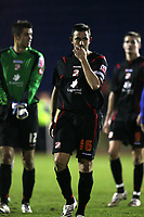 Photo: Paul Greenwood/Sportsbeat Images.<br />Carlisle United v Swindon Town. Coca Cola League 1. 04/12/2007.<br />Reaction at the final whistle for Swindon's Hasney Aljofree