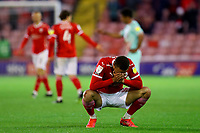Football - 2020 / 2021 Sky Bet Championship - Play-offs - Semi-final 1st Leg - Barnsley vs Swansea City - Oakwell<br /> <br /> Carlton Morris of Barnsley shows a look of dejection at the final whistle